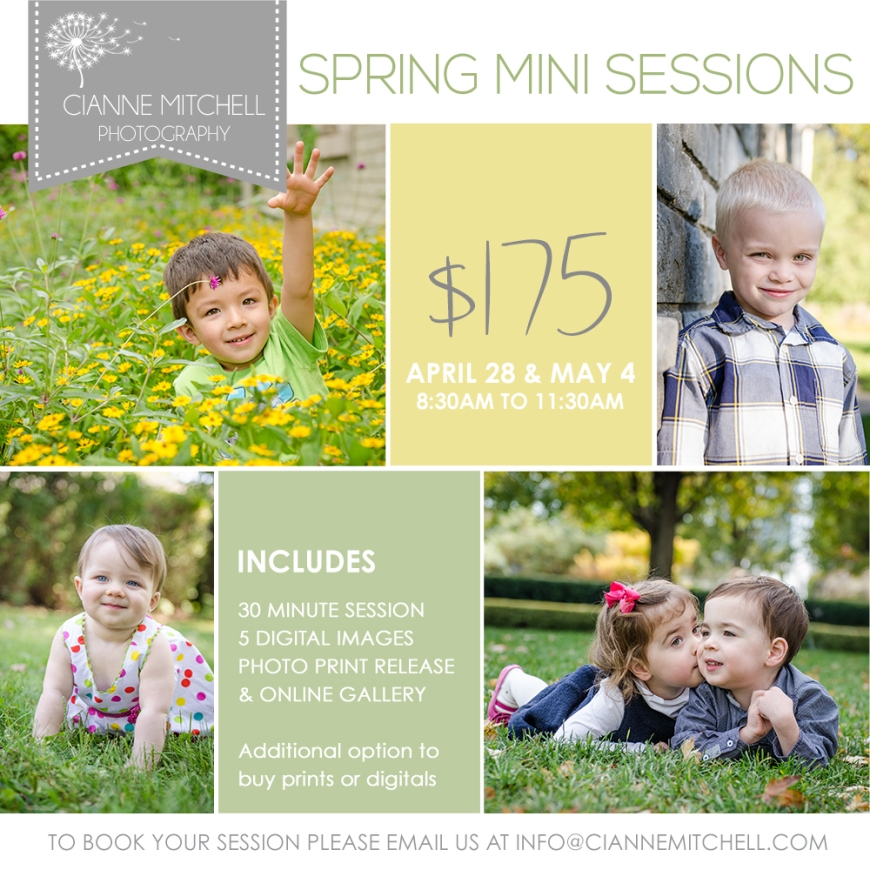 Spring Mini Sessions are Back | Chicago Child and Family Photographer